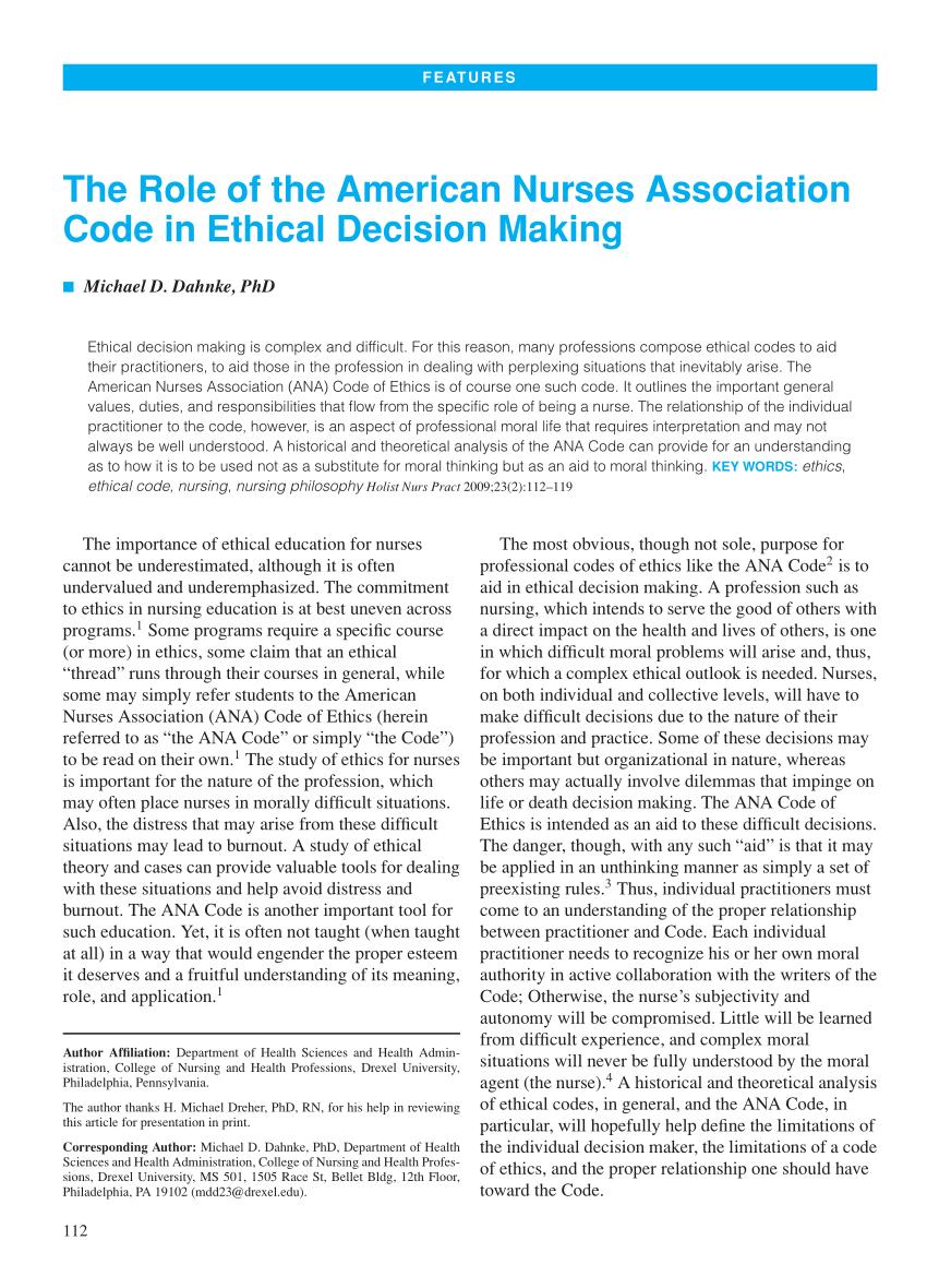 nurse code of ethics pdf