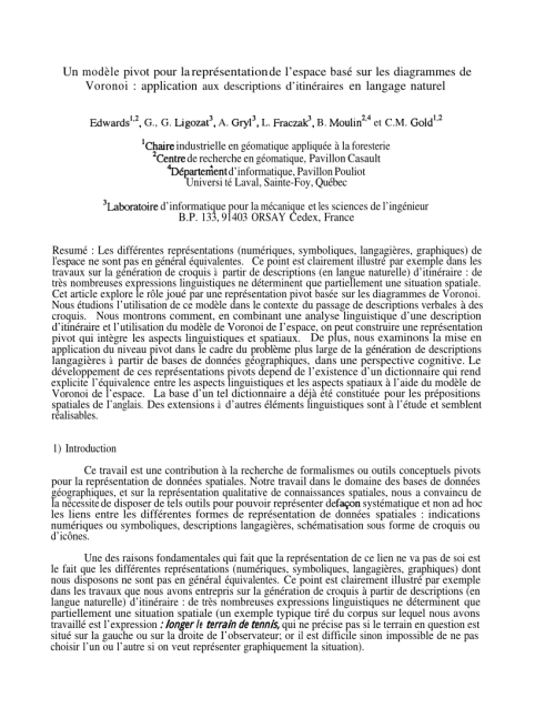 small resolution of  pdf un mod le pivot pour la repr sentation de l espace bas sur les diagrammes de voronoi application aux descriptions d itin raires en langage naturel