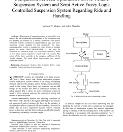pdf modelling and analysis of quarter car vehicle suspension system using fuzzy logic [ 850 x 1203 Pixel ]