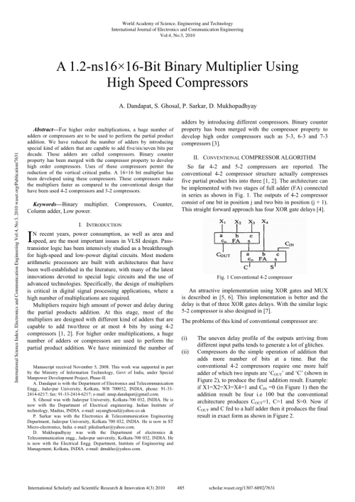 small resolution of  pdf a 1 2 ns16 16bit binary multiplier using high speed compressors
