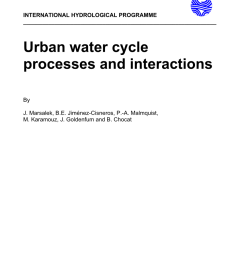 pdf urban water cycle processes and interactions [ 850 x 1203 Pixel ]