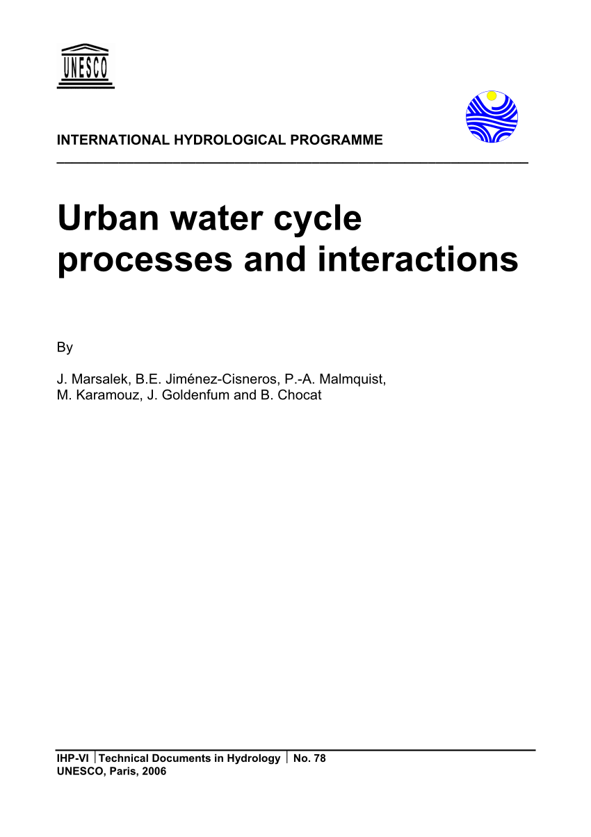 hight resolution of  pdf urban water cycle processes and interactions
