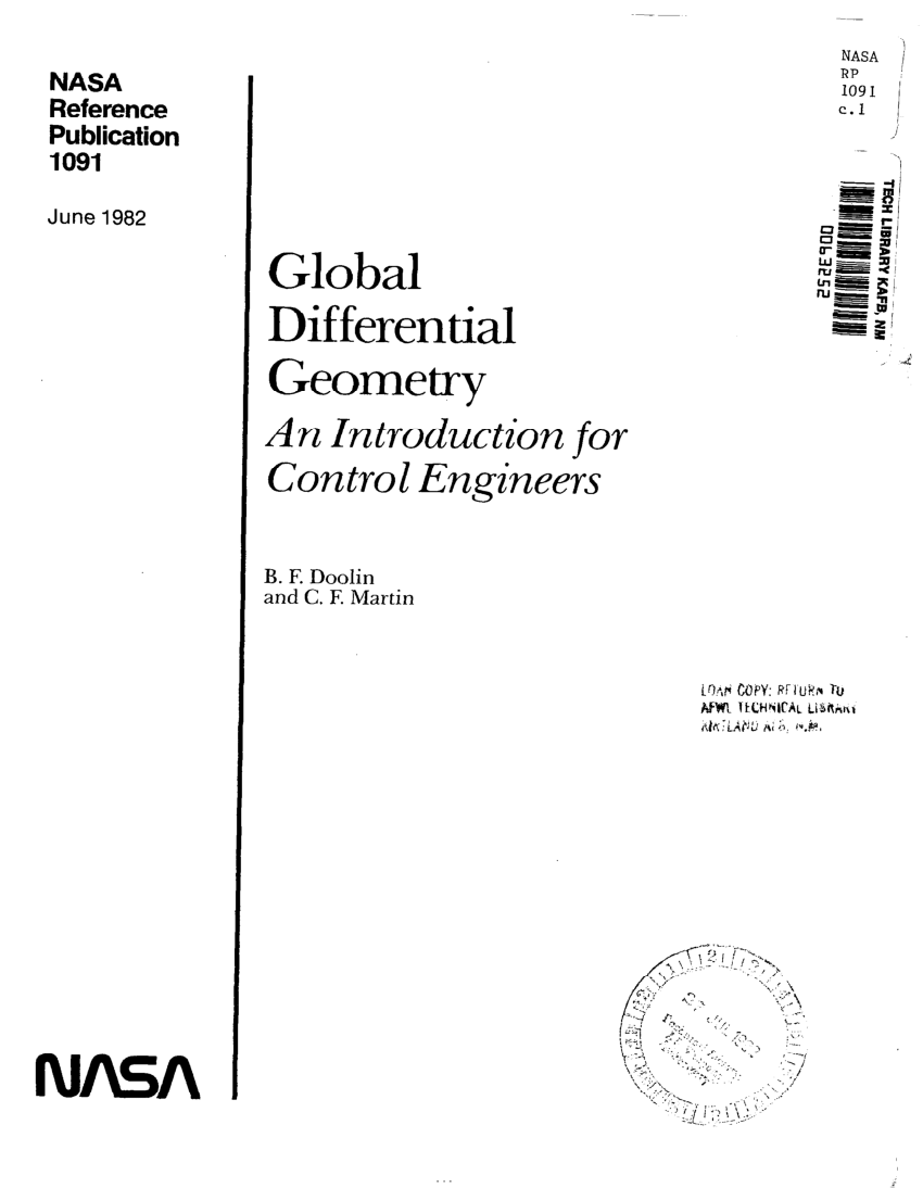 (PDF) Global differential geometry: An introduction for