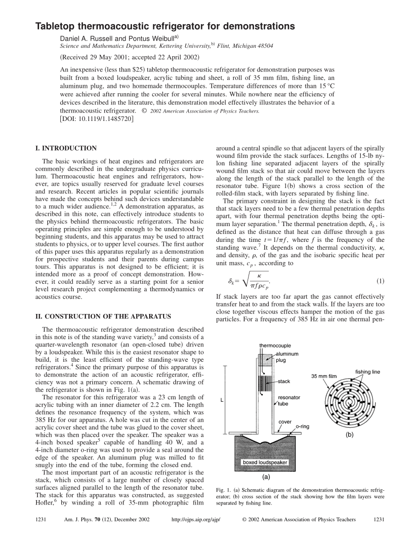 hight resolution of  pdf tabletop thermoacoustic refrigerator for demonstration