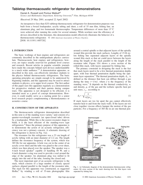 small resolution of  pdf tabletop thermoacoustic refrigerator for demonstration