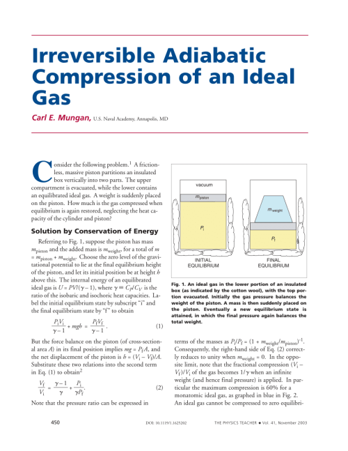 small resolution of  pdf irreversible adiabatic compression of an ideal gas