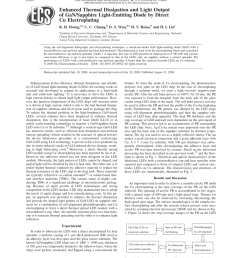 pdf enhanced thermal dissipation and light output of gan sapphire light emitting diode by direct cu electroplating [ 850 x 1107 Pixel ]