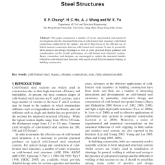 Baja Ringan K Steel Pdf Advances In Analysis And Design Of Cold Formed Structures