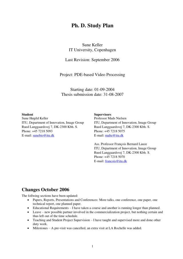 PDF) PhD Study Plan