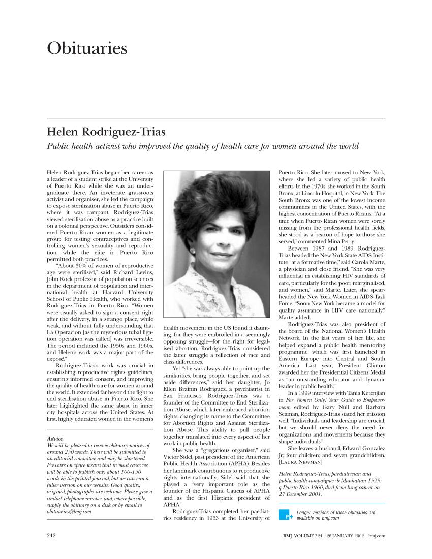 (PDF) Helen Rodriguez-Trias : Public health activist who