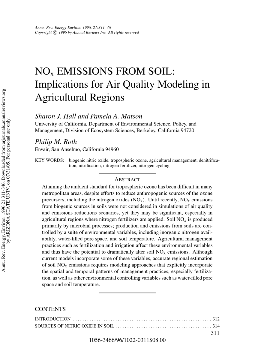 hight resolution of  pdf nox emissions from soil implications for air quality modeling in agricultural regions