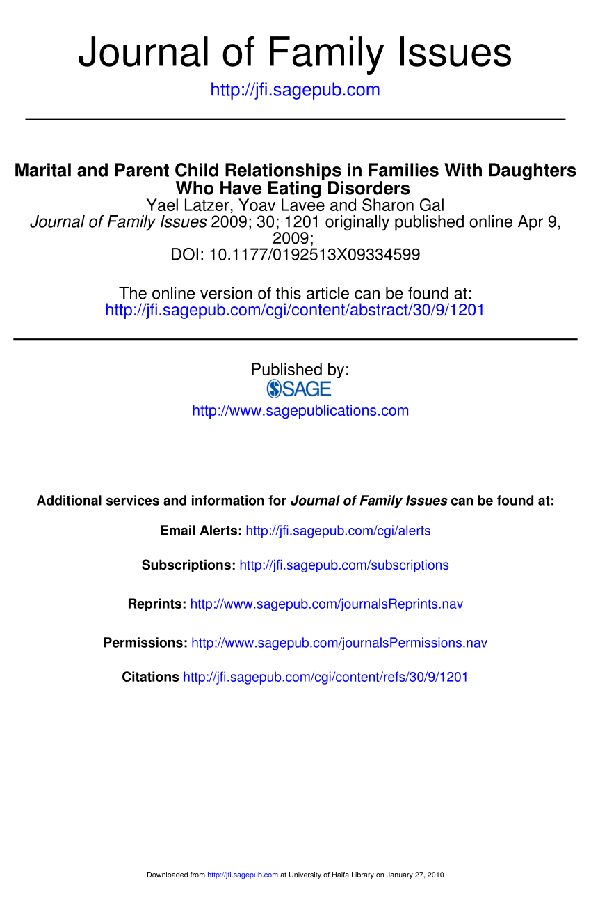 Marital And Parent—Child Relationships In PDF Download Available