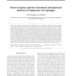 pdf heart of glass spicule armament and physical defense in temperate reef sponges [ 850 x 1122 Pixel ]