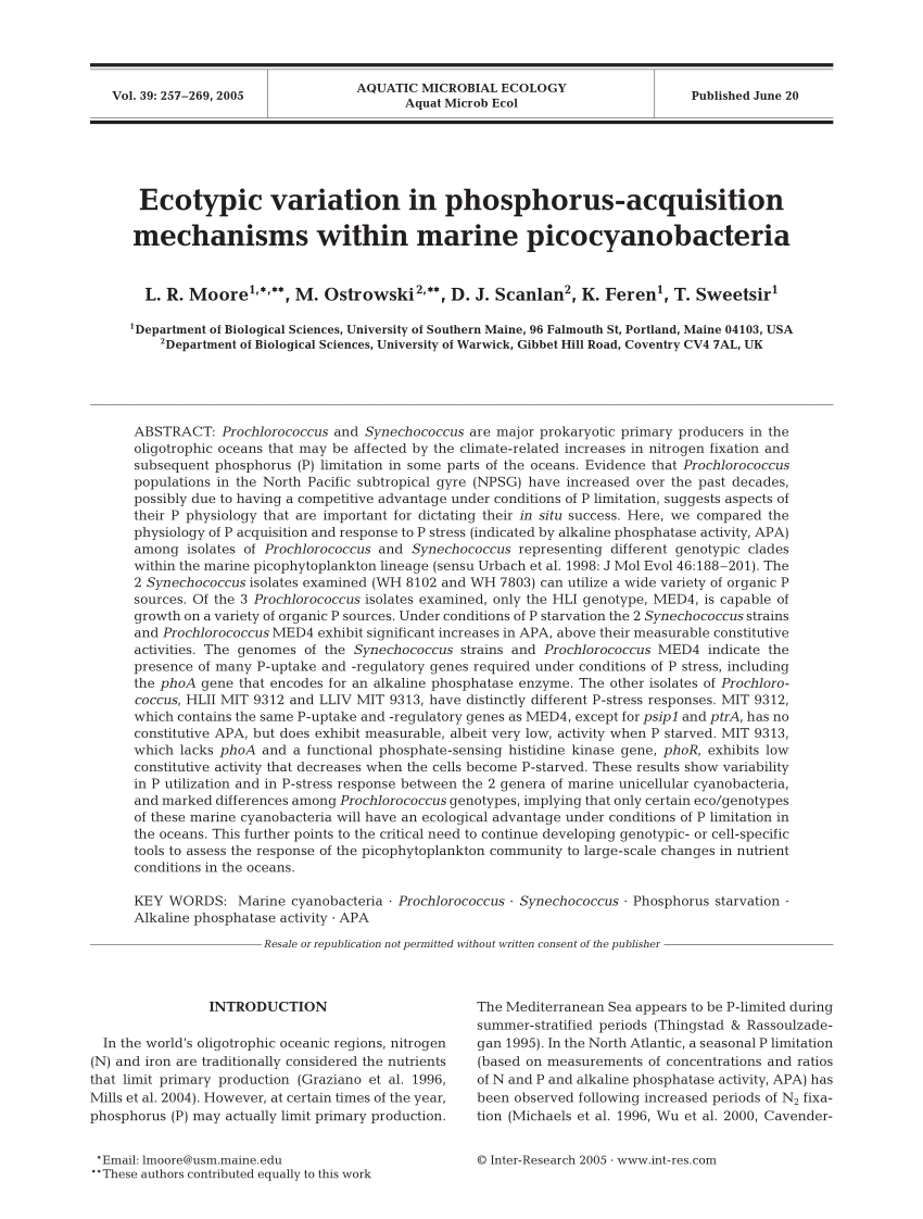 hight resolution of  pdf microbes and the marine phosphorus cycle