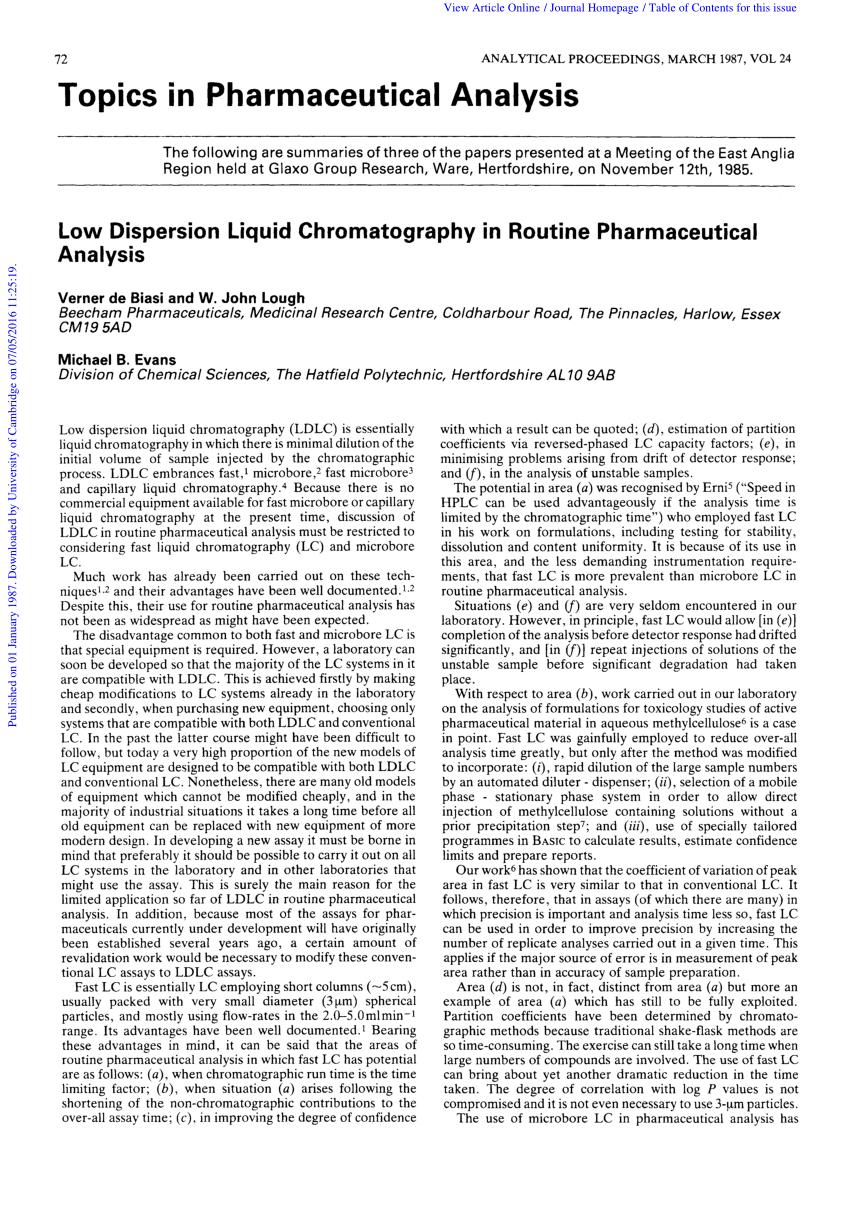 (PDF) Topics in pharmaceutical analysis