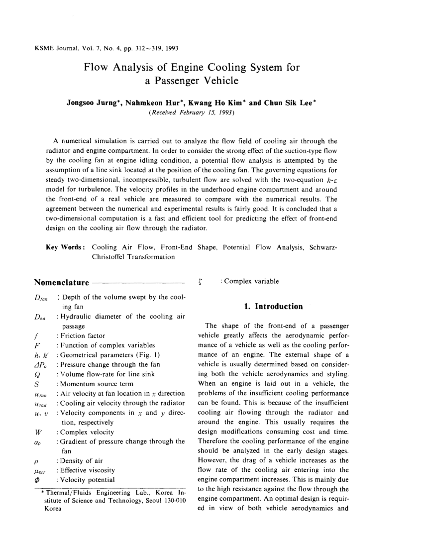 medium resolution of a review on air flow and coolant flow circuit in vehicles cooling system s c pang request pdf