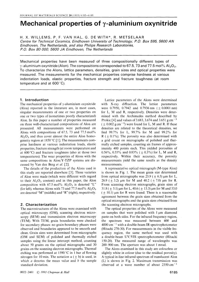 pdf mechanical properties of
