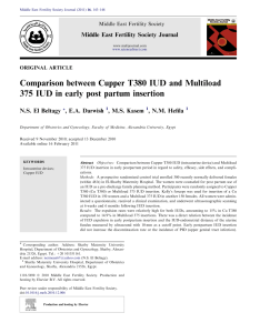 Pdf comparison between cupper  iud and multiload in early post partum insertion also rh researchgate