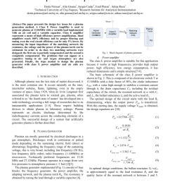 pdf design of a plasma generator based on e power amplifier and impedance matching [ 850 x 1203 Pixel ]
