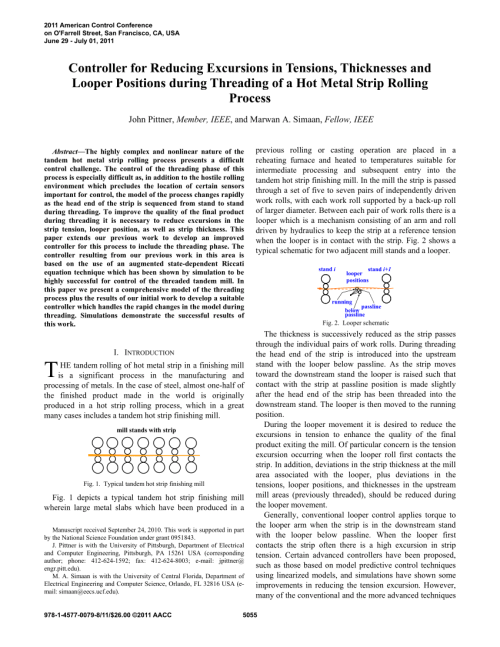 small resolution of  pdf a useful control model for tandem hot metal strip rolling