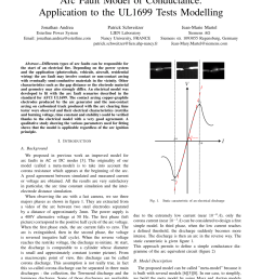 pdf arc fault model of conductance application to the ul1699 tests modeling [ 850 x 1100 Pixel ]