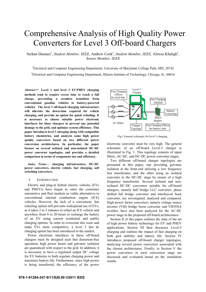 medium resolution of a fast on board integrated battery charger for four motor evs request pdf