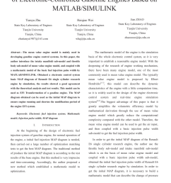 pdf simulation of the original injection map diagram of electronic controlled gasoline engines based on matlab simulink [ 850 x 1203 Pixel ]