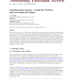 PDF) Learning about Seasons: A Guide for Teachers and Curriculum Developers [ 1124 x 850 Pixel ]