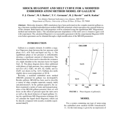 pdf shock hugoniot and melt curve for a modified embedded atom method model of gallium [ 850 x 1100 Pixel ]