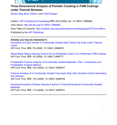 pdf three dimensional fracture analysis of fgm coatings [ 850 x 1124 Pixel ]