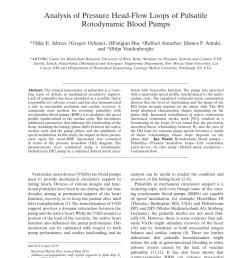 pdf analysis of pressure head flow loops of pulsatile rotodynamic diagram likewise process flow diagram vacuum pump symbol also ecg [ 850 x 1121 Pixel ]