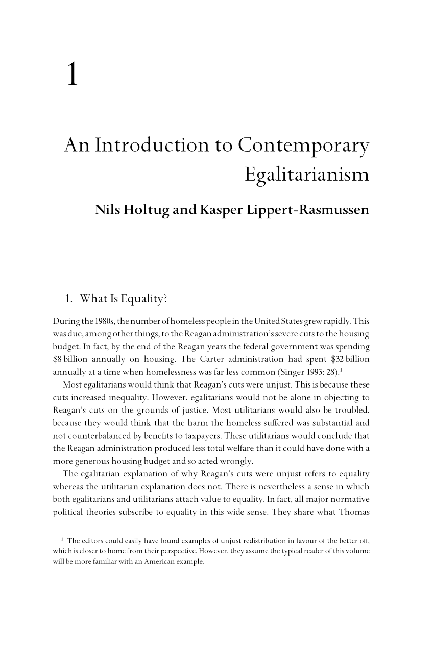 PDF An Introduction To Contemporary Egalitarianism