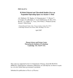 pdf h mode pedestal and threshold studies over an expanded operating space on alcator c mod [ 850 x 1100 Pixel ]