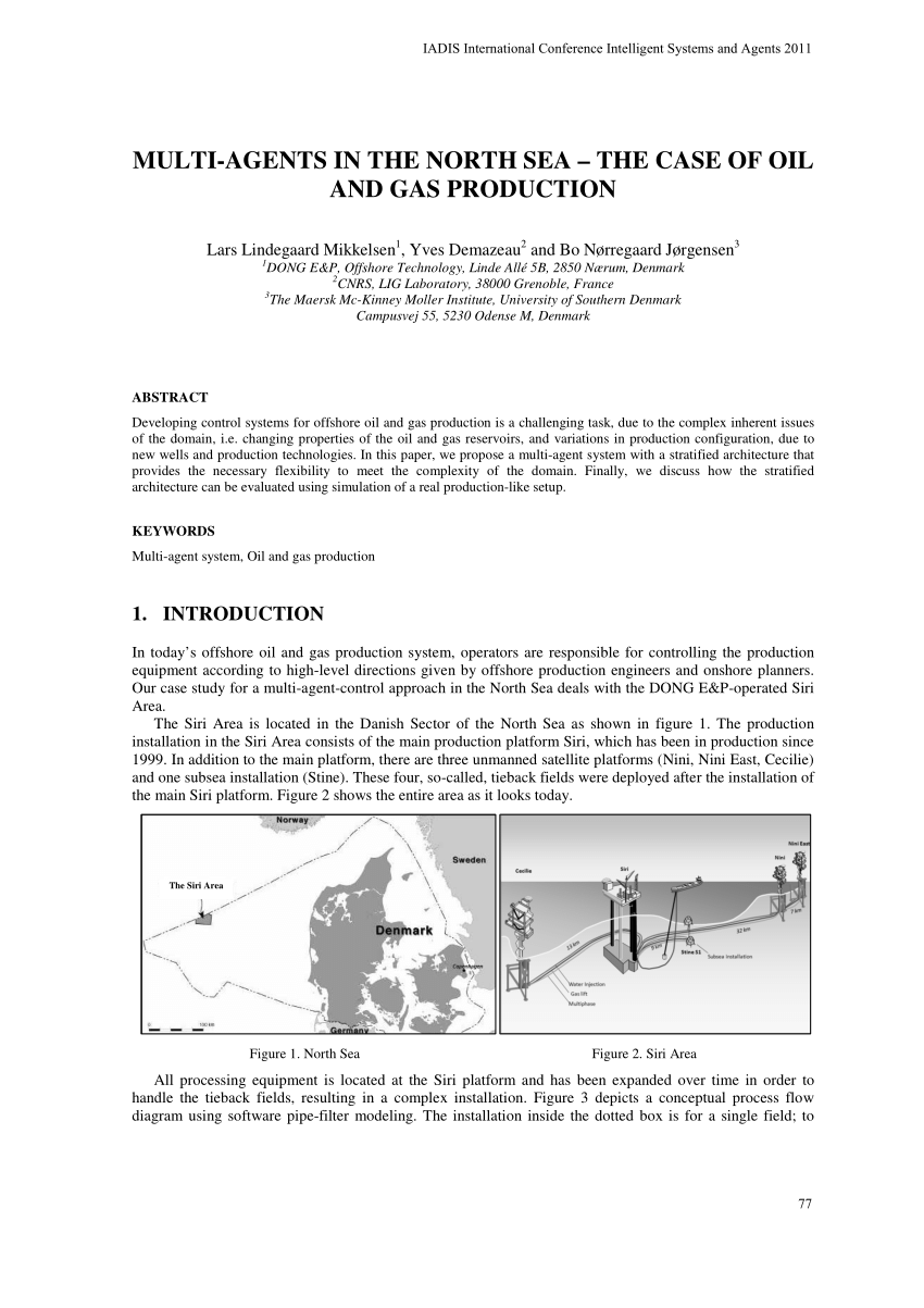 hight resolution of  pdf multi agents in the north sea the case of oil and gas production
