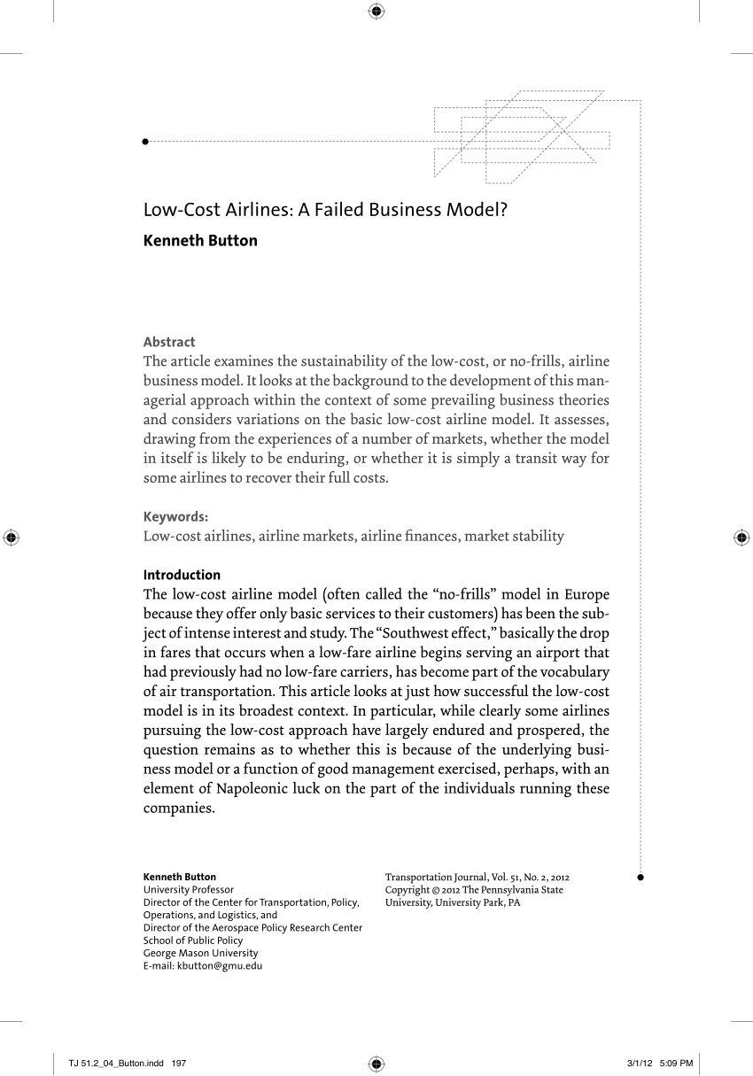 hight resolution of  pdf low cost airlines a failed business model