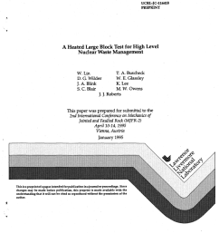 pdf a heated large block test for high level nuclear waste management [ 850 x 1108 Pixel ]