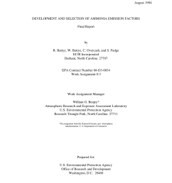 pdf development and selection of ammonia emission factors final report february august 1994 [ 850 x 1100 Pixel ]