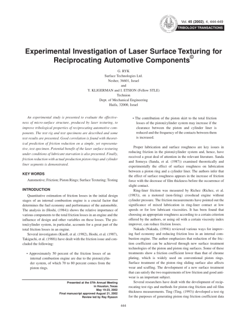 small resolution of  pdf testing piston rings with partial laser surface texturing for friction reduction