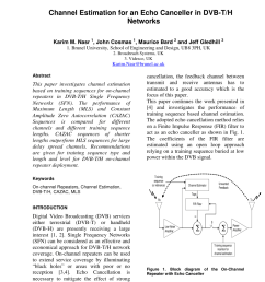 pdf channel estimation for an echo canceller in dvb t h networks [ 850 x 1167 Pixel ]