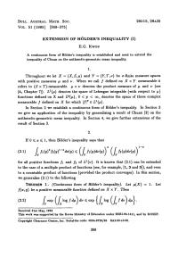 (PDF) Extension of Hlder's inequality (I)