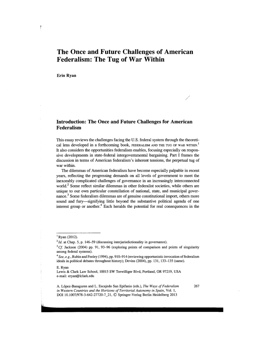 medium resolution of  pdf federalism and the tug of war within seeking checks and balance in the interjurisdictional gray area