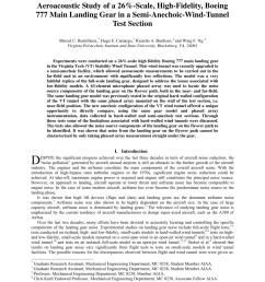 pdf aeroacoustic study of a 26 scale high fidelity boeing 777 main landing gear in a semi anechoic wind tunnel test section [ 850 x 1100 Pixel ]