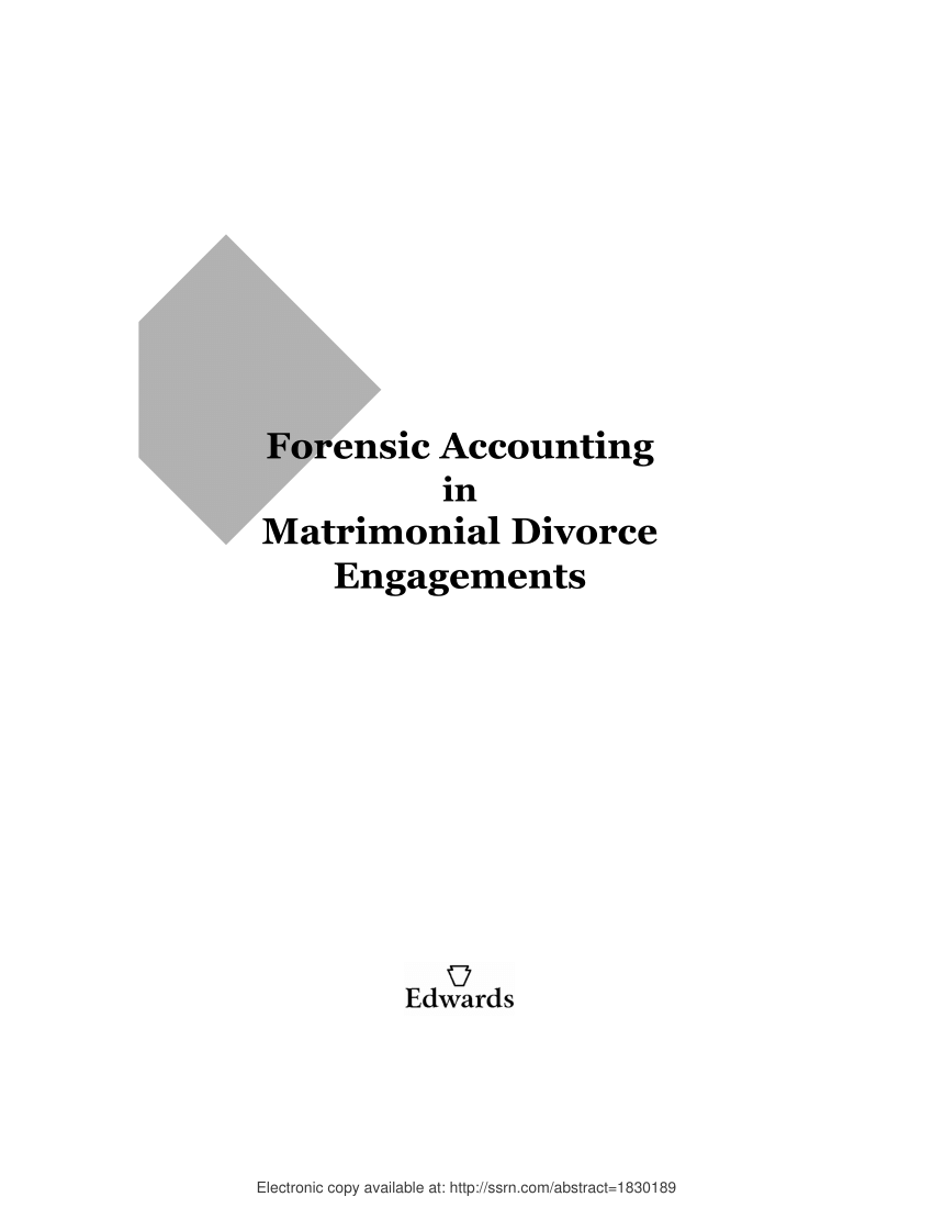 hight resolution of  pdf forensic accounting in matrimonial divorce engagements