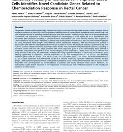 pdf firmas g nicas de respuesta al tratamiento neoadyuvante en el c ncer de recto doctoral thesis r conde university of granada 2014  [ 850 x 1099 Pixel ]
