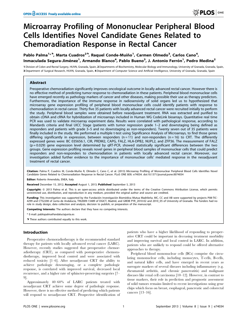 hight resolution of  pdf firmas g nicas de respuesta al tratamiento neoadyuvante en el c ncer de recto doctoral thesis r conde university of granada 2014