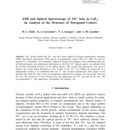 endor of formulaybformula on tetragonal sites in calcium fluoride determination of the crystal field parameters request pdf [ 850 x 1241 Pixel ]