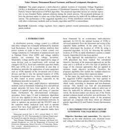 pdf optimal location of voltage regulators in radial distribution networks using genetic algorithms [ 850 x 1202 Pixel ]