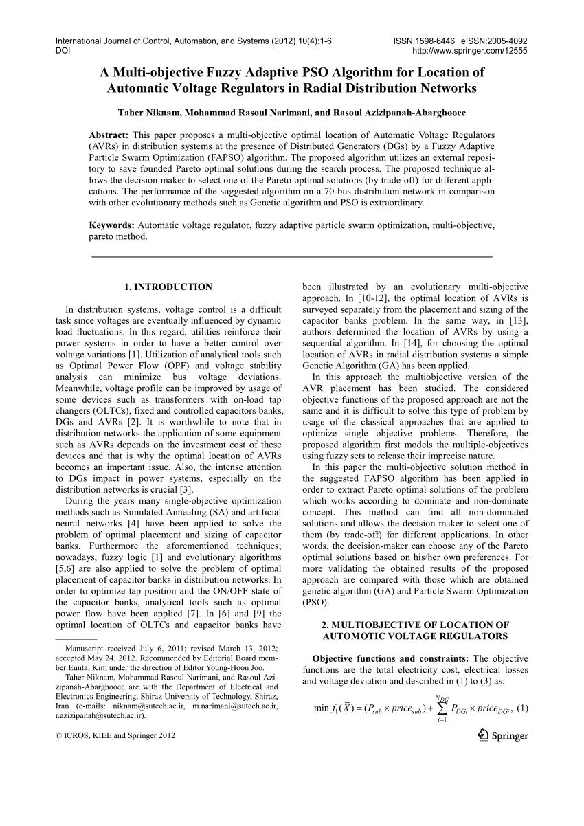 medium resolution of  pdf optimal location of voltage regulators in radial distribution networks using genetic algorithms