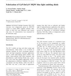 pdf fabrication of gan ingan mqw blue light emitting diode [ 850 x 1146 Pixel ]