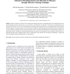 pdf selection of machining datum and allocation of tolerance through tolerance charting technique [ 850 x 1203 Pixel ]